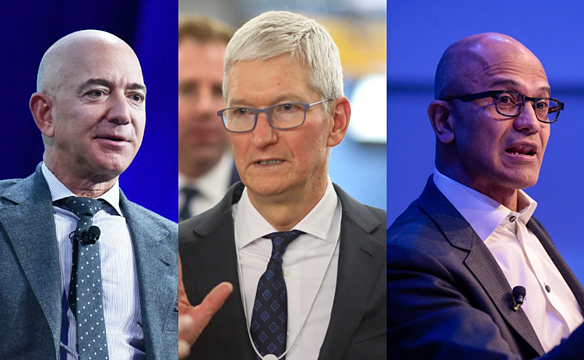 AMAZON, APPLE, AND MICROSOFT CEOS JOINING FORCES TO COMBAT CORONAVIRUS PANDEMIC